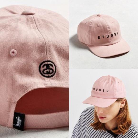 NWT Stussy Baby Pink Strapback Hat (Unisex) f8552e7c362
